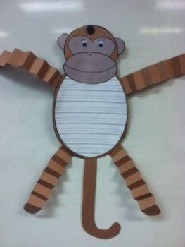 monkey writing paper monkey writing paper and project pattern freebie