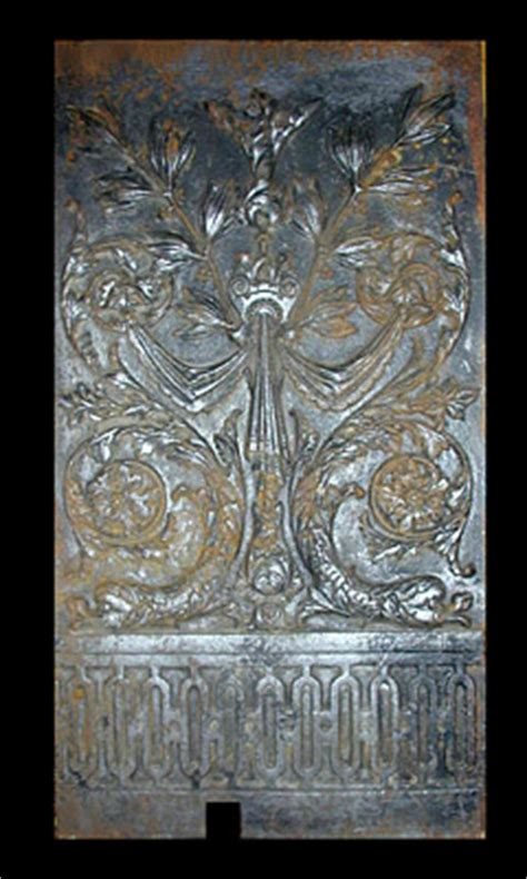 fireplace cast iron back plate george glazer gallery antique decorative arts cast