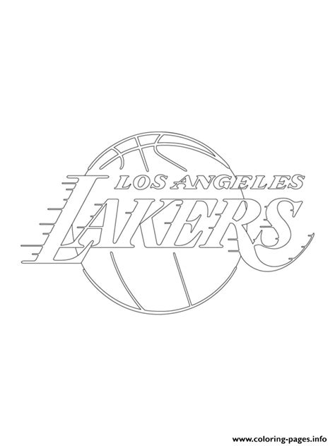 nba lakers coloring pages los angeles lakers logo nba sport coloring pages printable