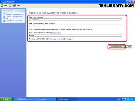 cara membuat login php dengan xp cara membuat password pada login windows xp tenlibrary com
