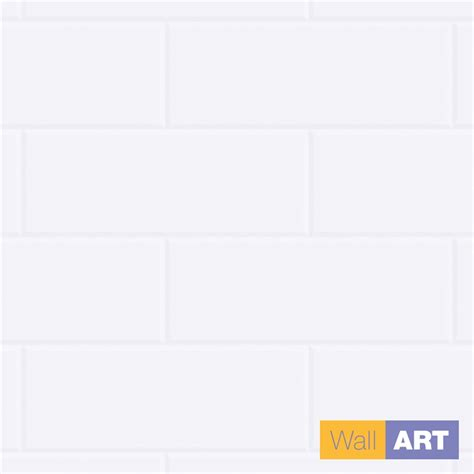wall art 2400 x 1200 x 3mm new york white tile wet area