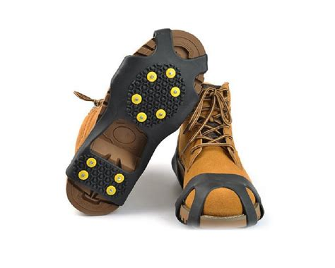 9 for a pair of steel studded non slip universal shoe