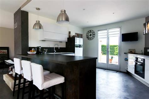 sejour et cuisine ouverte cuisine ouverte sur s 233 jour emilie peyrille ep design