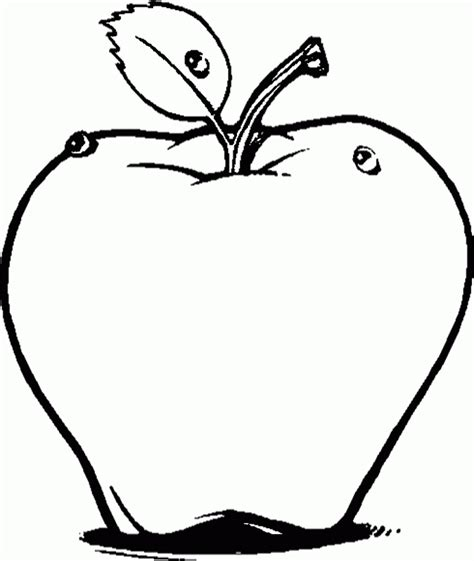 red apple coloring page fruit smile apple fruit sweet coloring pages kids six