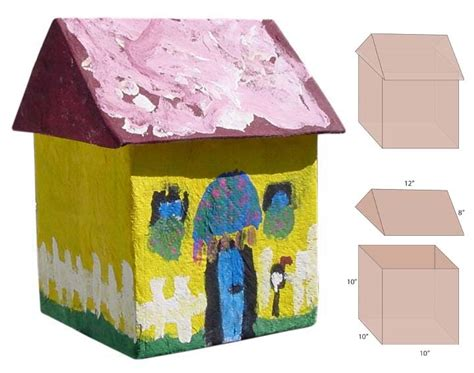 How To Make A Paper Mache House - paper mache house projects for