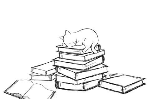 cat journal 6x9 write sketch doodle books sleeping cat on books by littlepurplepillow on deviantart