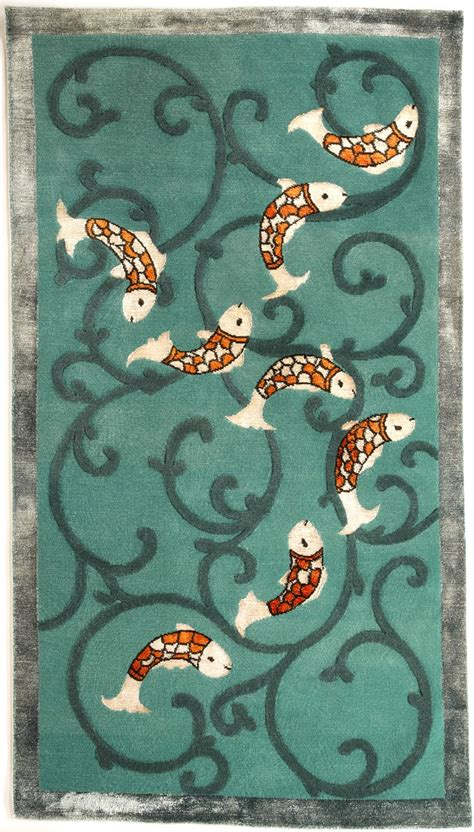 koi fish rug koi rug designed by vladone for classic rug collection garden ponds ponds