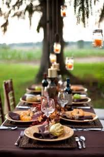 Round Table Dinner Buffet 30 Natural Thanksgiving Decor Ideas