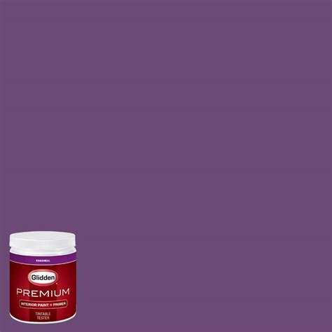 glidden premium 8 oz hdgv53 regal purple eggshell interior paint with primer tester hdgv53p