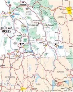 panorama canada map panorama mountain and canadian rockies regional maps