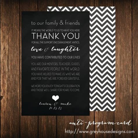 Best Day Ever Wedding Program Alternative Thank You Card