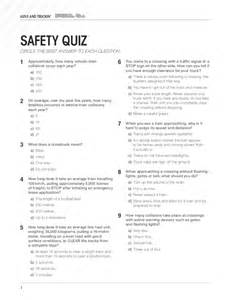 alive and truckin safety quiz