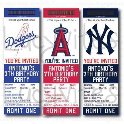 ticket stub invitation template unavailable listing on etsy