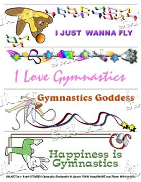 printable gymnastics bookmarks printable gymnastics quotes quotesgram
