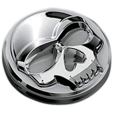 Emblem City By Kur Accesories kuryakyn replacement skull emblems skull plastic chrome