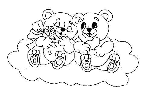 imagenes de oso de amor para dibujar osos para colorear