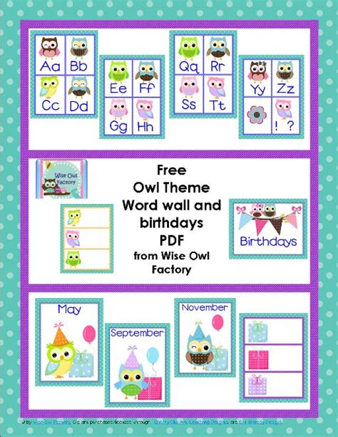 printable owl classroom decorations free owl theme classroom printables birthdays tes and
