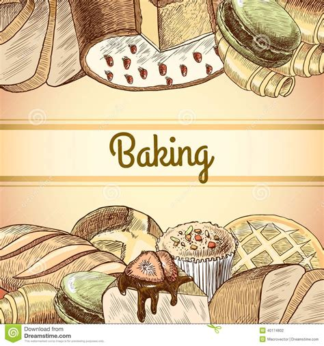 baking pastry poster stock vector image 40174802