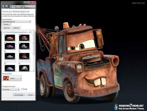 pc themes sound cars 2 windows 7 theme with sound effect download