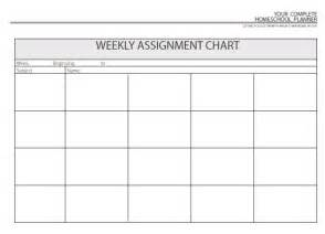Assignment Calendar Template by Weekly Homework Sheet Template Calendar Template 2016