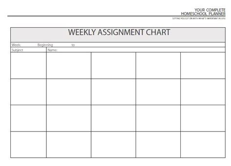 homeschool weekly planner template