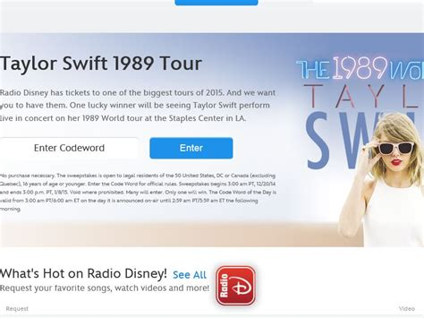 taylor swift tour age limit disney radio taylor swift 1989 tour sweepstakes