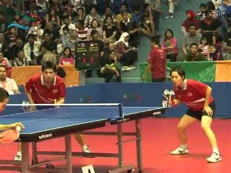Meja Pingpong Jakarta tennis meja ganda curan indonesia vs sea