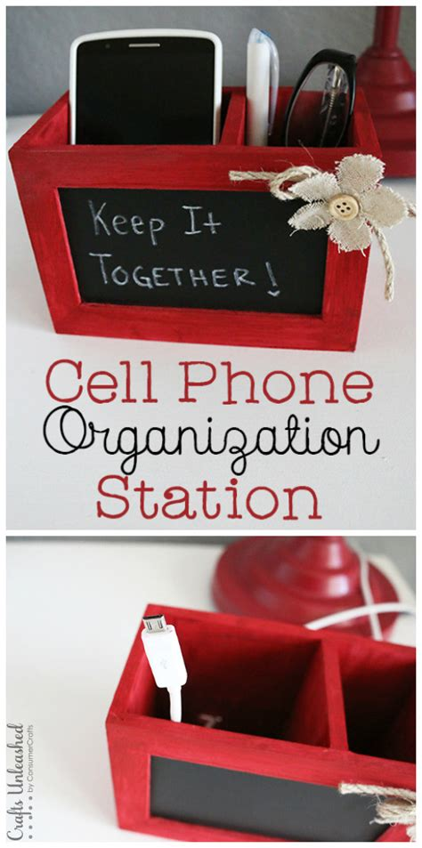 diy wireless phone charging station diy charging station phone organization crafts unleashed