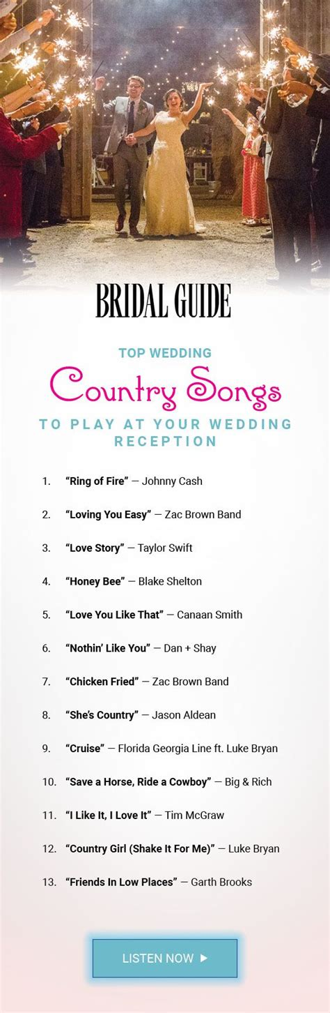 Wedding Reception Songs by Top 60 Country Songs To Play At Your Wedding Songs
