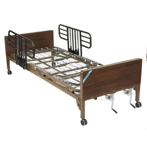 hospital bed rails multi height manual hospital bed with half rails drive medical 15003bv hrmulti