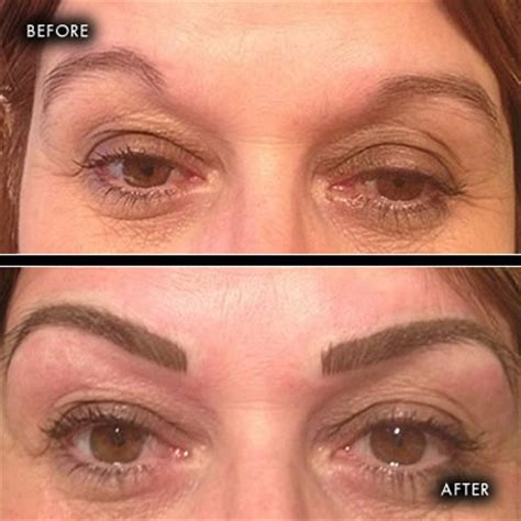 before and after photographs semi permanent make up