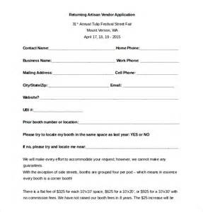 vendor qualification form template 10 vendor application templates free sle exle