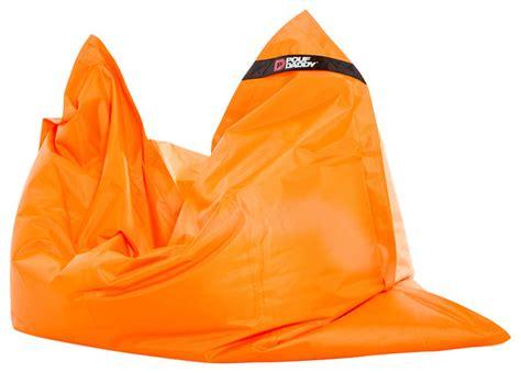 bright orange bean bag chair bean bag cover contemporary furniture by pouf