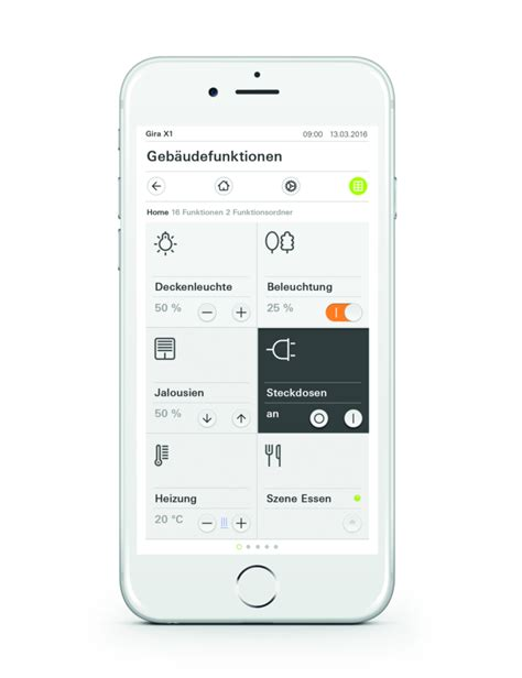 Gira Home Automation Apps For Gira X1 App Is A Remote For The Home Stylepark