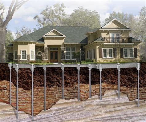 Types Of Foundations For Houses methods of underpinning pit method and pile method