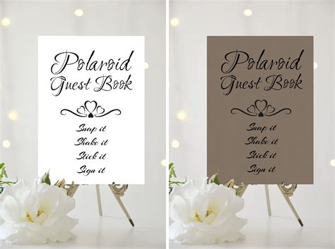 polaroid picture wedding guest book polaroid guest book sign pictures to pin on
