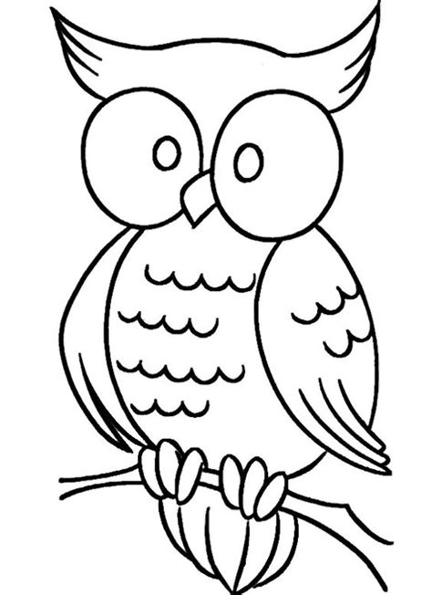 owl coloring pages simple simple owl coloring pages kids coloring pages