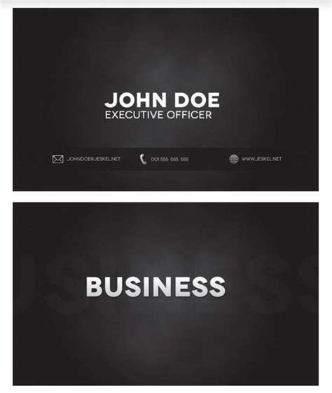 Business Cards 60 Absolutely Free Dark And Black Business Cards Black Business Card Template