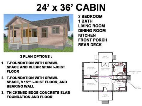 Small Cabin House Floor Plans Small Cabin Blueprints 26 X 36 House Plans