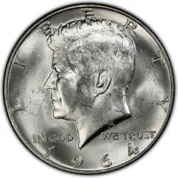 1964 kennedy half dollar values and prices past sales