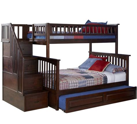 Drawer Stairs For Bunk Bed by Staircase Bunk Bed With Drawers And Pillow Bunk Bed