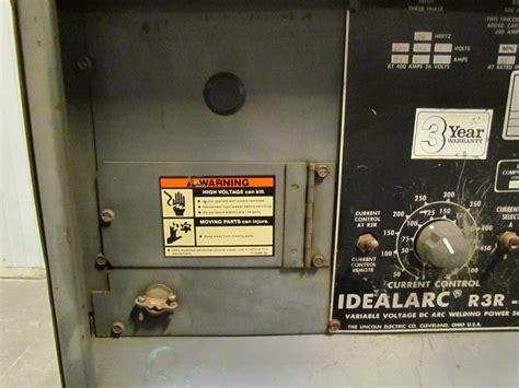 lincoln idealarc lincoln idealarc r3r 400 400 dc welder 230 460 volt