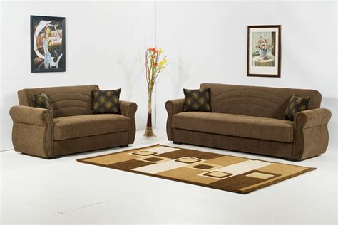 Loveseat And Chair Set 2 Pc Sofa Set Mimoza Brown Sofa Sets Klm Br Set 4