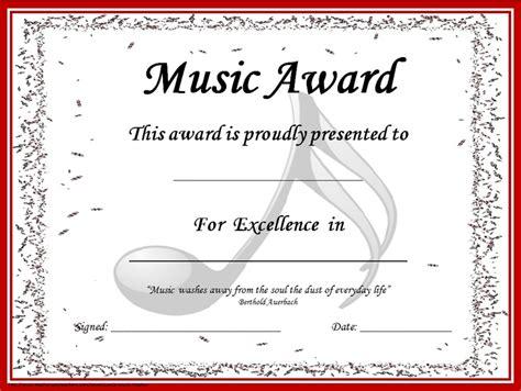 design award certificate template cool music award certificate design template with editable