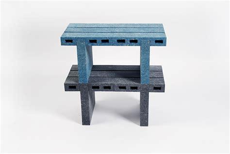 designboom furniture woojai lee transforms recycled paper into brick like furniture