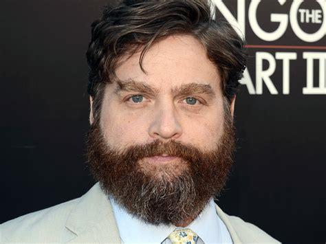 hangover actor with beard zach galifianakis looks sharp after shaving signature