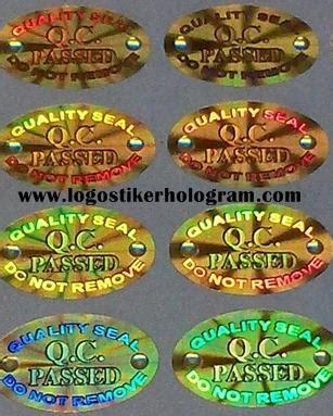 Stiker Segel Hologram Qc Pass Bulat sticker design stiker hologram jual sticker murah