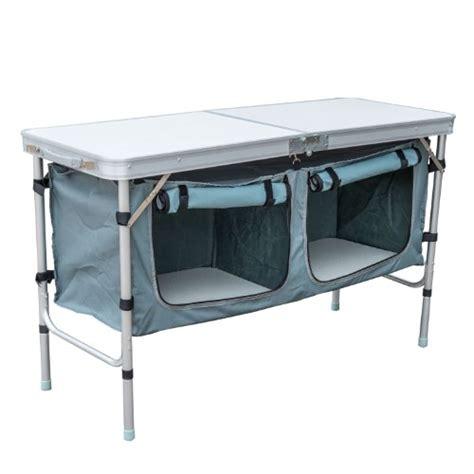 Folding Table With Storage Outsunny Aluminum Cing Folding C Table With Carrying Handle And Storage O Ebay