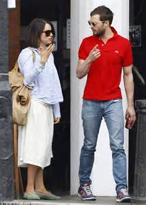 jamie dornan tv appearances jamie dornan wears bright t shirt for dinner date with
