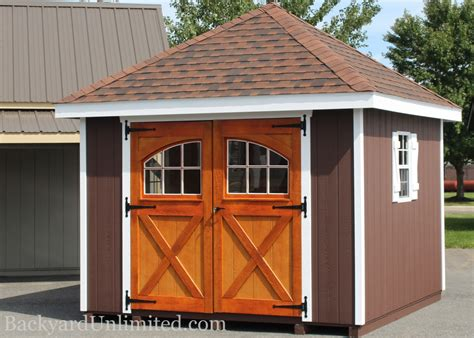 sheds hip roof backyard unlimited